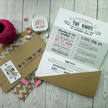 Vintage Blumen Tri Fold Einladung Hochzeit Pink Blumig Natur Laden