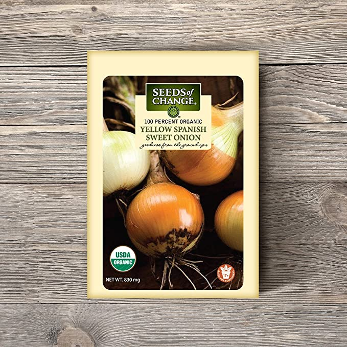 Seeds Of Change 8178 Certified Organic Sweet Yellow Spanish onion