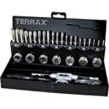 Terrax A245013 - Juego de herramientas de roscar (31 piezas)