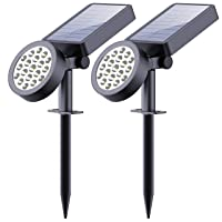 Deals on Leknes Solar Yard Outdoor 19 LED Solar Spotlights Waterproof