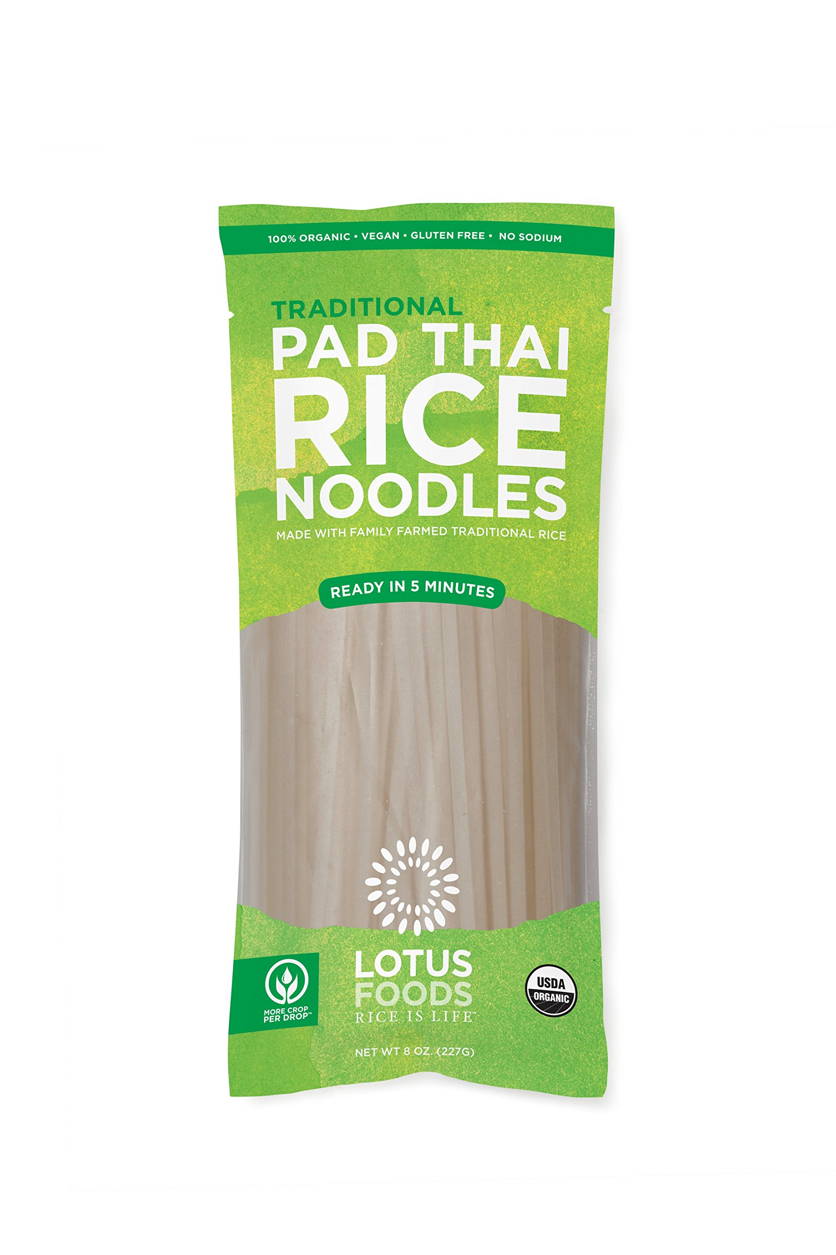 Lotus Foods Organic Traditional Pad Thai Noodles, 8 Count by Lotus Foods