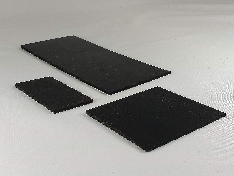 3mm St/ärke Antivibrationsmatte f/ür z.B Waschmaschine//Hochleistungsmixer 10 St/ück Gummimatte Gummiplatte 120x250mm