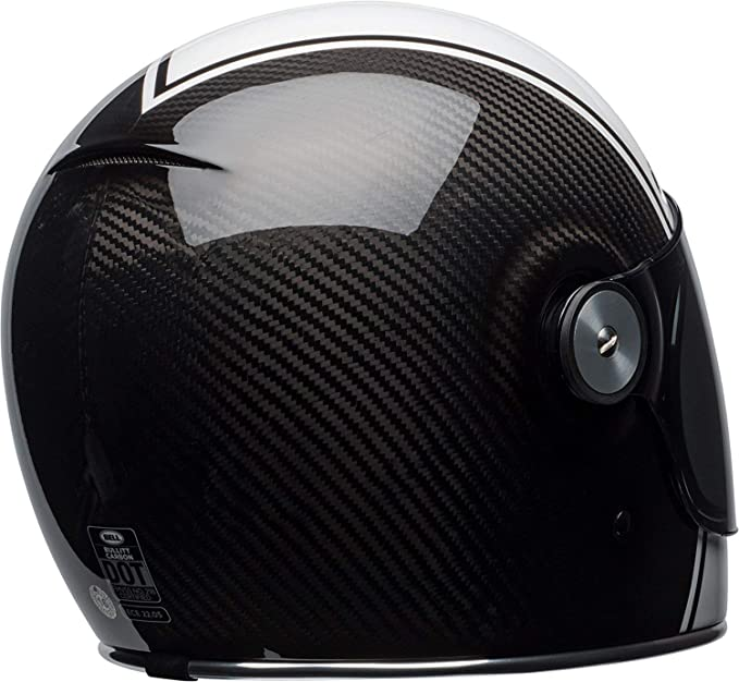 Amazon.com: Bell Bullitt Carbon Full-Face Motorcycle Helmet (Gloss White/Carbon Pierce, X-Small): Automotive