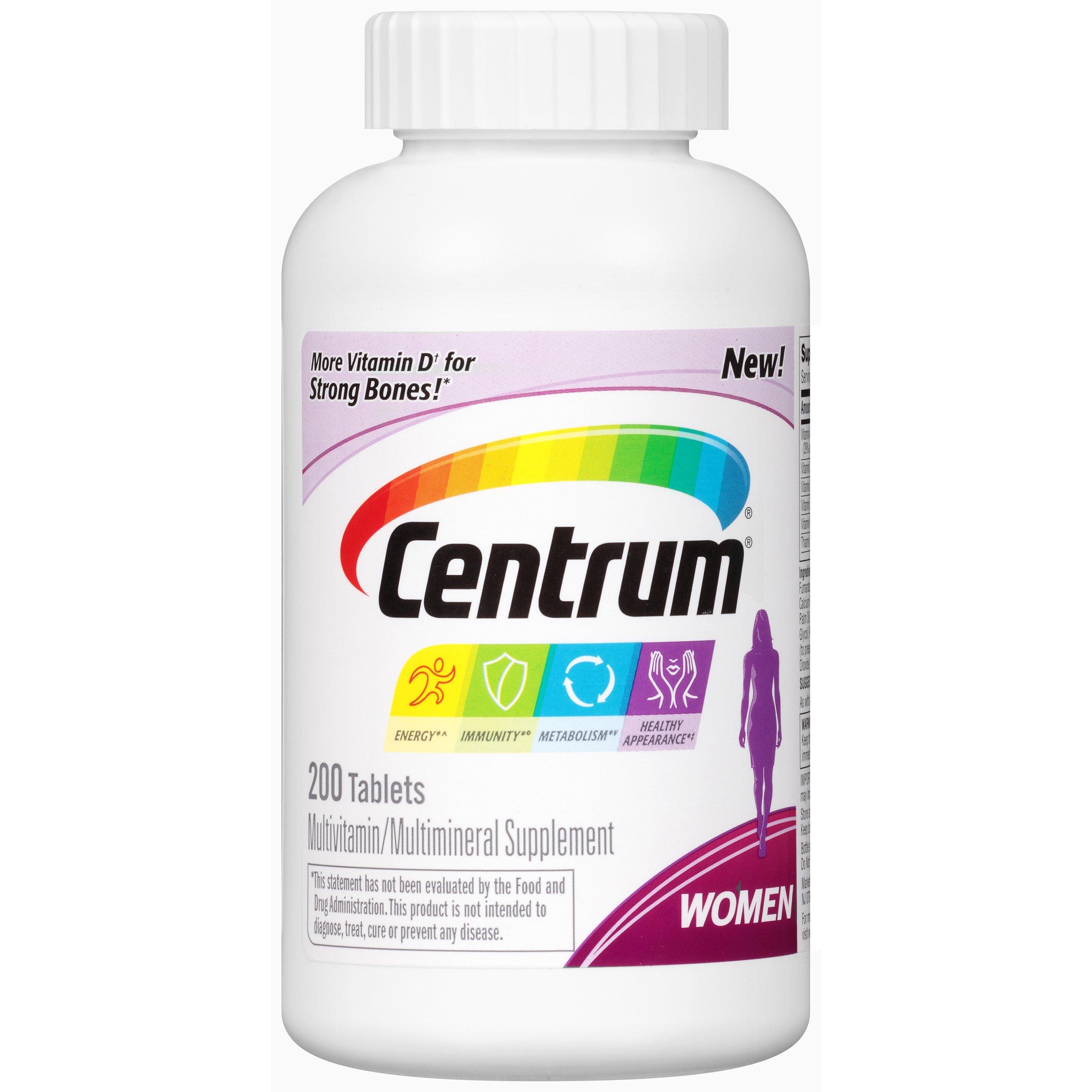Centrum Women Multivitamin / Multimineral Supplement Tablet, Vitamin D3 (200 Count)