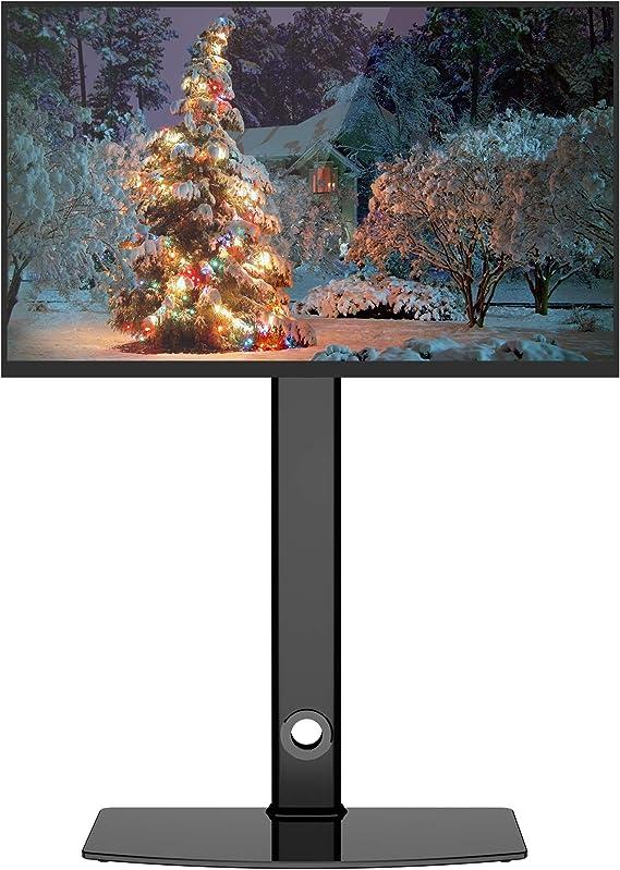 BONTEC Soporte Giratorio de Suelo para LCD LED Plasma TVs de 26-55 Pulgadas, Altura Ajustable y Gestión de Cables, VESA 400x400 mm: Amazon.es: Electrónica