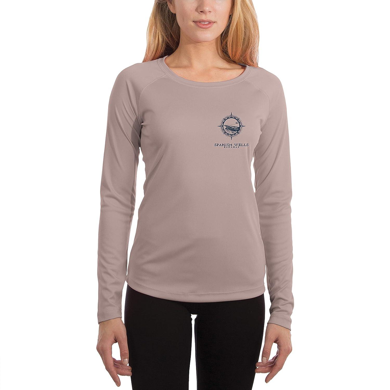 Long Sleeve T-Shirt Compass Vintage Spanish Wells Womens UPF 50