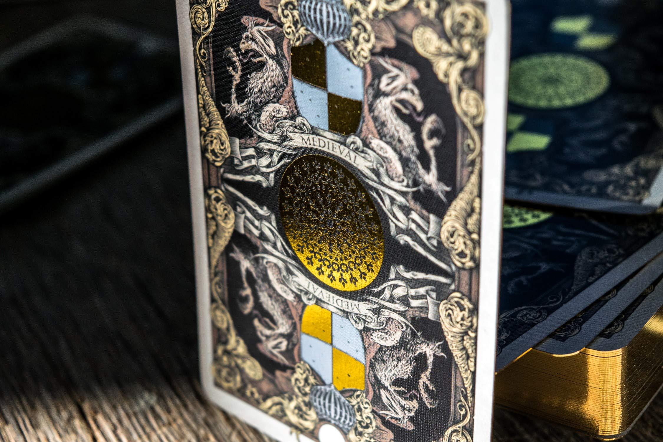 Medieval Royal Playing Cards, Gold Deck of Cards, Cool Magic Cards, Best Poker Cards, Unique Illustrated Foil Colors for Kids & Adults, Playing Card Decks Games, Standard Size by Elephant Playing Cards (Image #3)