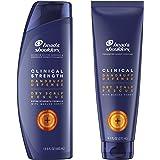 Head & Shoulders Clinical Strength Dandruff Shampoo and Conditioner, Dry Scalp Rescue with Manuka Honey, 13.5 Oz, 9.1 Oz…
