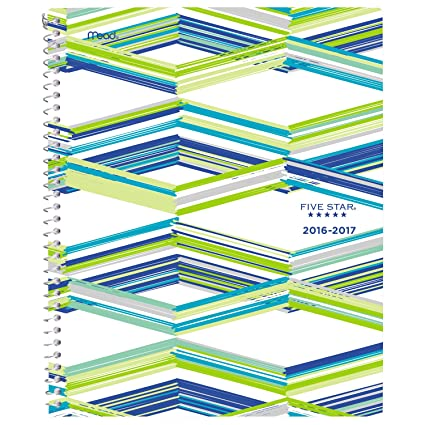 amazon com five star academic year weekly monthly planner august