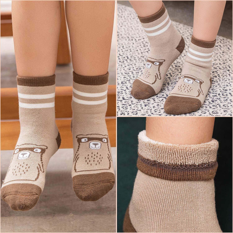 Boys Thick Cotton Socks Kids Warm Socks Winter Thermal Crew Socks