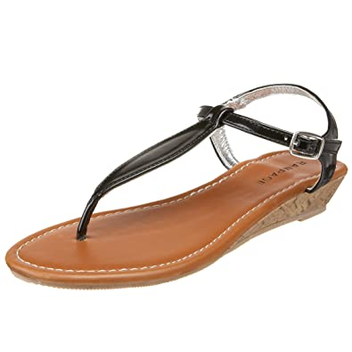 a79ddd621f0 Amazon.com: Rampage Women's Dutch Wedge Thong: Shoes