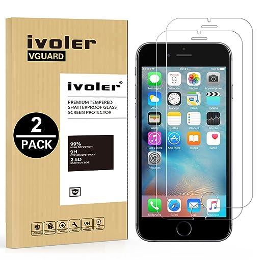 20 opinioni per [2 Pack] Pellicola Vetro Temperato iPhone 6s / 6, iVoler® ** [Protezione