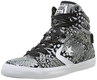 bd43ba64d2b6fd ... best price converse womens all star 12 femme mid trainers 382740 83  black white pattern 3.5
