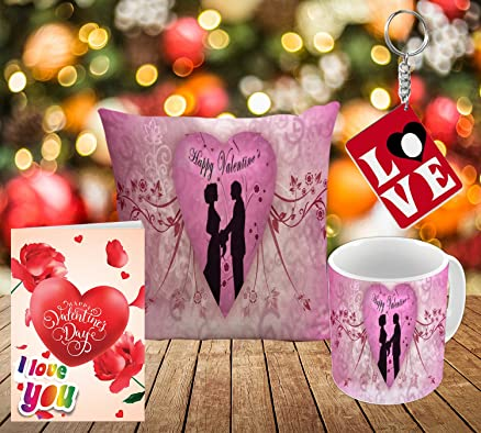 Buy Happy Valentine\'s Day cute couple design Styles printed Gift ...