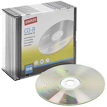 Staples - Pack de 10 CD grabables con Estuches para Joyas ...