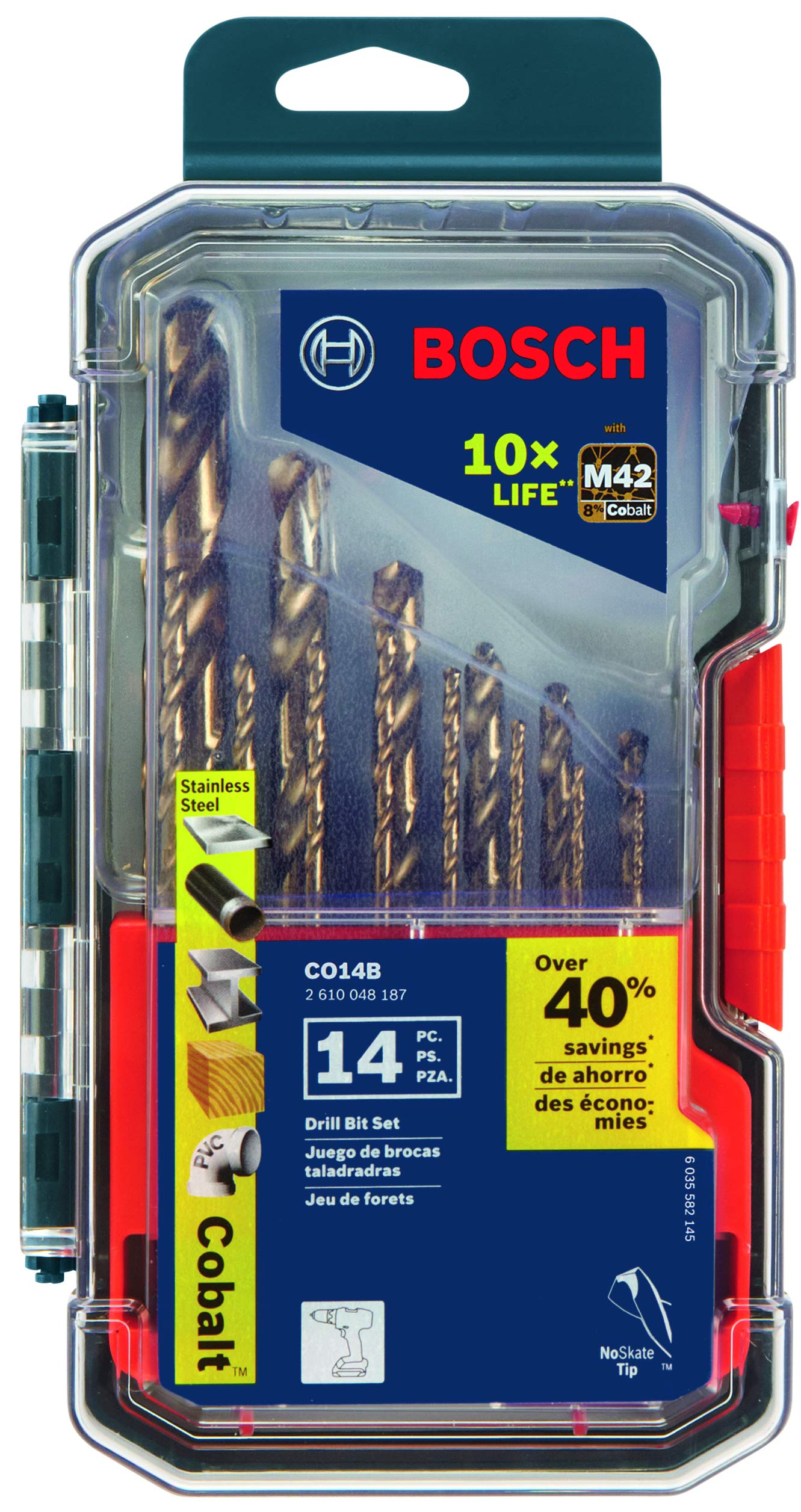 Bosch CO14B 14 Pc. Cobalt M42 Drill Bit Set by Bosch