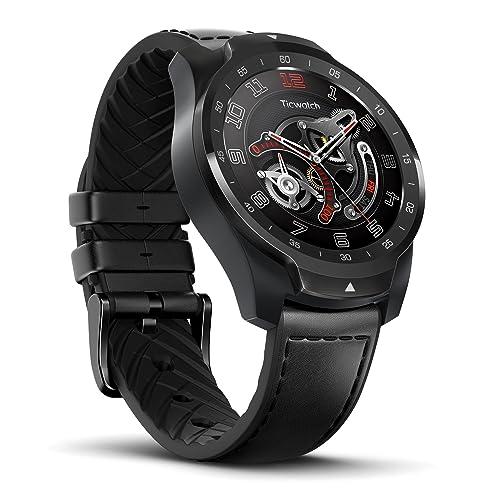 Ticwatch Pro Reloj Inteligente Smart Watch Compatible con iOS y Android Wear 0S Asistente de Google Tecnología de Visualización en Capas Cambia Su Estilo de Vida Desde Aquí Color Negro