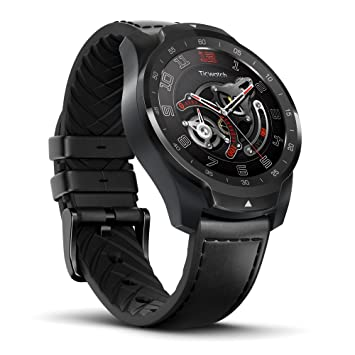 Ticwatch Pro Reloj Inteligente Smart Watch Compatible con iOS y Android (Wear 0S) Asistente de Google Tecnología de Visualización en Capas Cambia Su ...