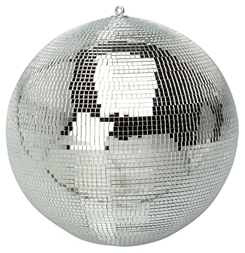 FXLab G007A 8-Inch Party Disco Mirror Ball - Shiny Silver
