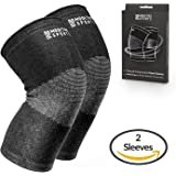 Modetro Sports Knee Compression Sleeve - Provides Arthritis and Joint Pain Relief - Comfortable, Flexible, and Breathable Knee Support featuring Moisture Wicking Antimicrobial Bamboo Charcoal Fibers