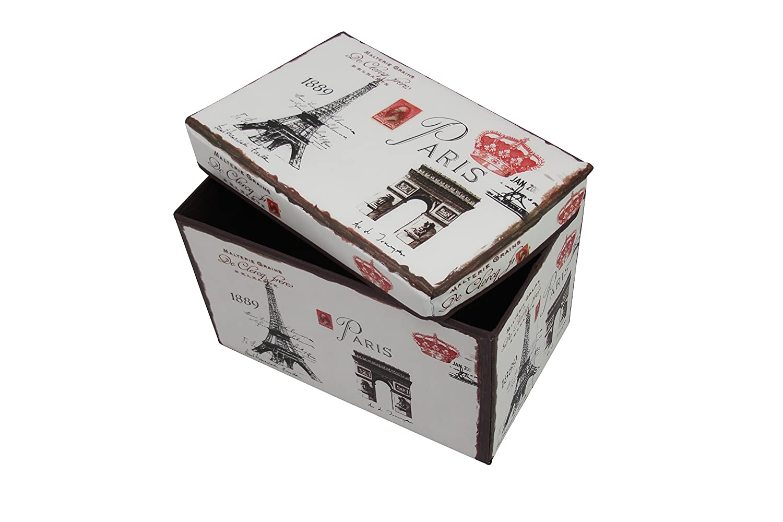 in diversi designs 1PLUS pieghevole Sgabello Da Panca Contenitore 48/x 30/x 30/cm