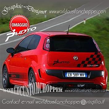 1 Scacchiera Adesiva Fiat Grande Punto Cofano Posteriore Sport