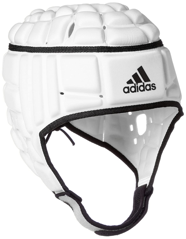 adidas Rugby Headguard - Casco para Hombre, Color Negro/Blanco