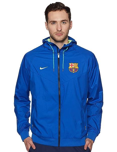 Nike FCB M NSW WR Wvn Aut Chaqueta FC Barcelona, Hombre