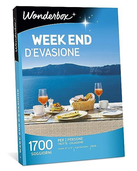 WONDERBOX - Cofanetto Regalo per Due - Week End D\'EVASIONE - 1700 soggiorni  in Hotel 4* e 3* agriturismi e B&B per 2 Persone