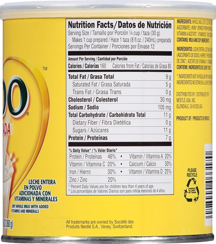 Nestle Nido Powdered Milk Fortificada - Whole Dry Milk Powder for Adult &  Kids - Leche Nido en Polvo - Dried Powered Milk in Bulk - BASED BOX Bundle