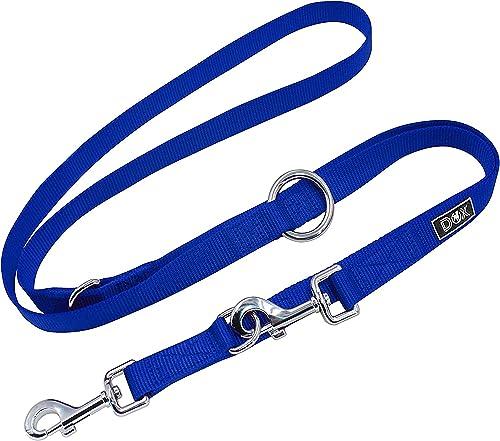 DDOXX-Doppelleine-aus-Nylon-für-Hunde