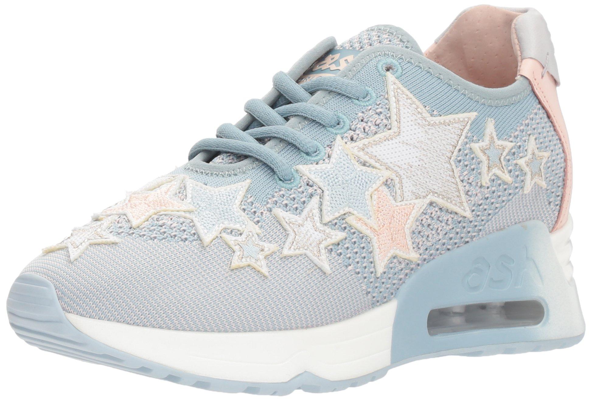 Ash Women's AS-Lucky Star Sneaker, Ice Blue/Power, 38 M EU (8 US)