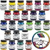 Jacquard Textile Color 24 Pack Textile Colors FREE Color Mixing Wheel