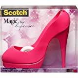 Scotch Magic Dispenser Tacco Rosa con 1 Rotolo di Nastro Adesivo 3M
