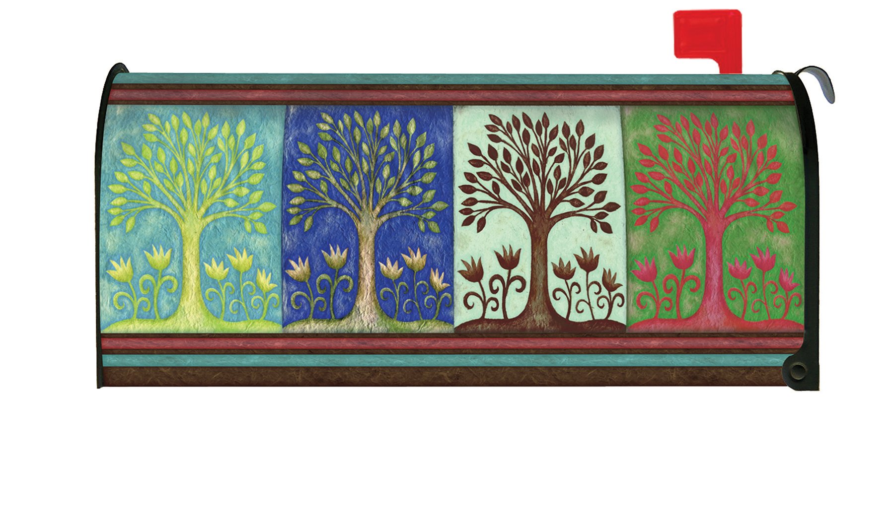 Toland Home Garden Seasons Spring Summer Fall Winter Tree Magnetic Mailbox Cover