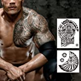 Large Dwayne Temporary Tattoos