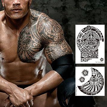Amazon Com Kotbs 2 Sheets Similar Dwayne Totem Tattoo Temporary