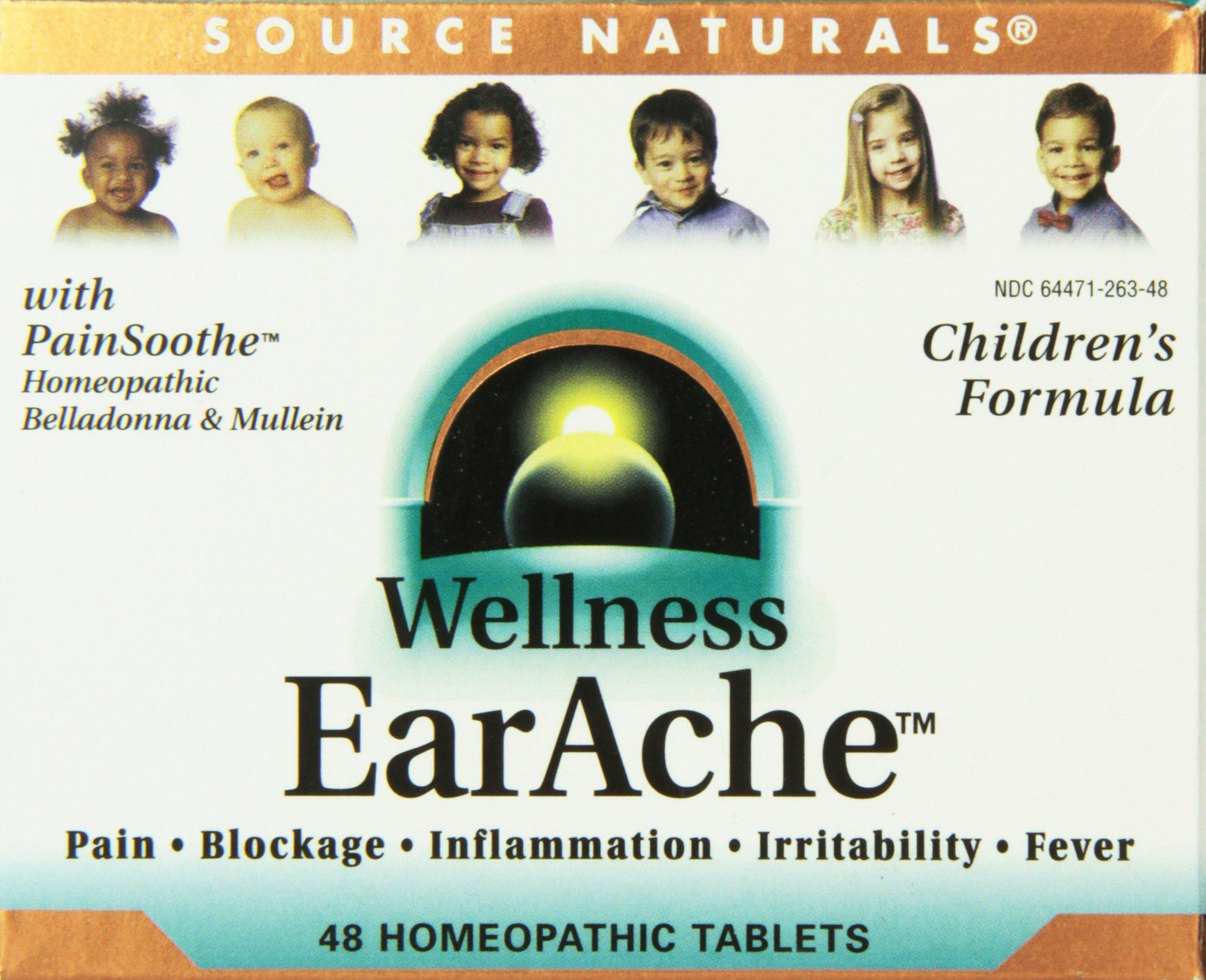 Source Naturals Wellness Earache, 48 Tablets