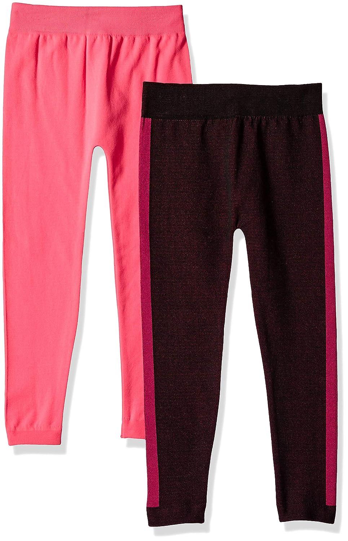 Limited Too Girls 2 Pack Jacquard Side Stripe Fleece Lined Legging Set