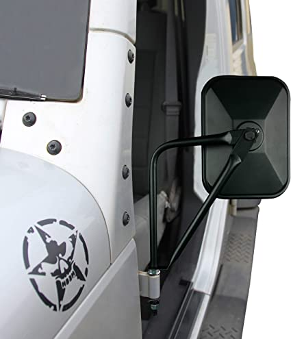 fits 2007 to 2017 Jeep Wrangler Door Hinge Smooth Black Driver Side