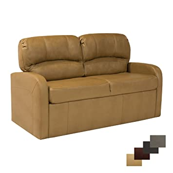 RecPro Charles 70u0026quot; Jack Knife RV Sleeper Sofa W/ Arms RV Furniture  (Toffee