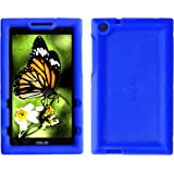 Bobj Rugged Case for ASUS ZenPad Z170C, Z170CG, Z170MG, P01Z – BobjGear Custom Fit - Patented Venting - Sound Amplification - BobjBounces Kid Friendly (Batfish Blue)