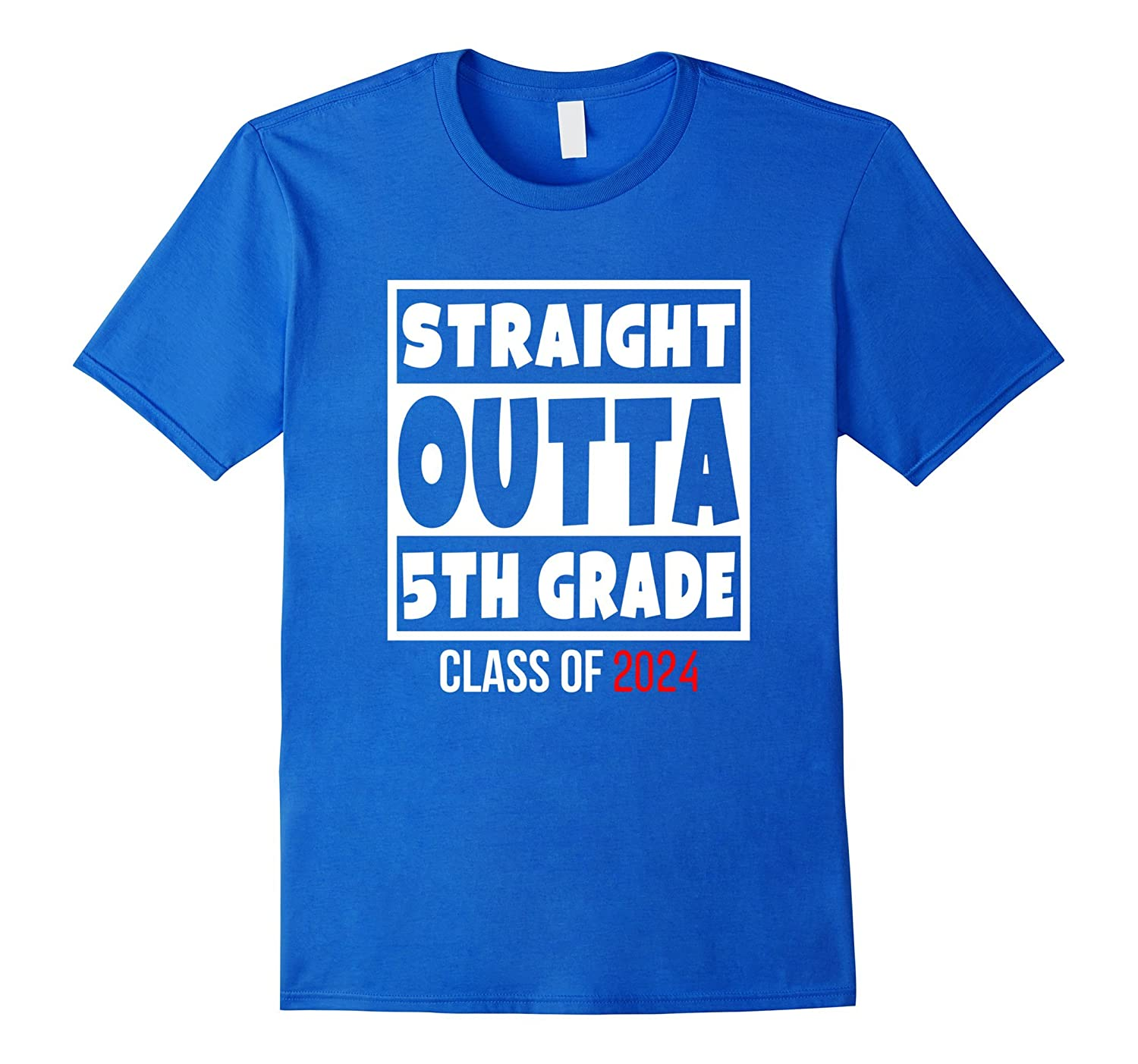 Straight Outta 5th Grade Funny 2024 Graduation T-Shirt-RT