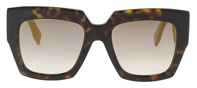 f4103c685f Fendi Damen Sonnenbrille FF 0263 S FQ 086 52 Braun (Dark Havana Grey ...