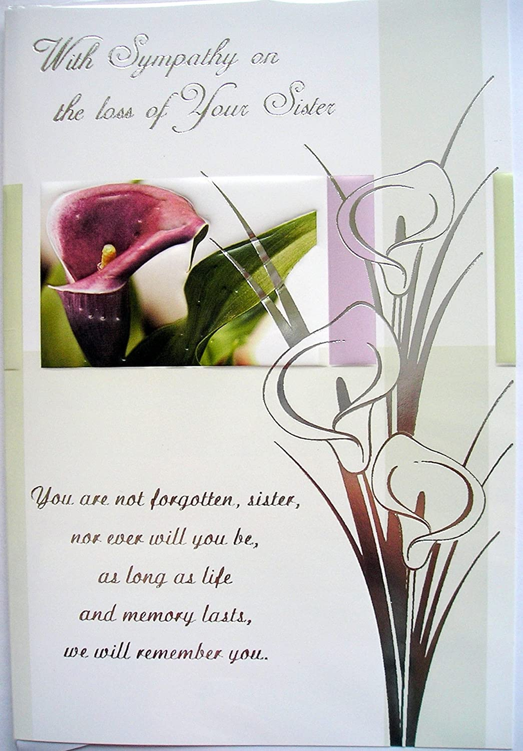 With Sympathy On The Loss Of Your Sister Card Christian Religious
