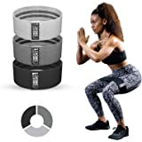 Sweet Sweat Hip Bands with 3 Levels of Resistance | Non-Slip Fabric Booty Bands for Squats & Lunges | Includes Free Mesh Carr