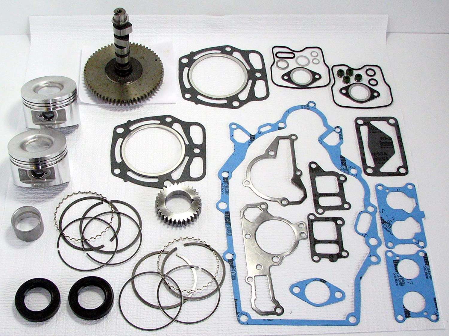 Amazon.com: Kawasaki FD620/John Deere 425, 445, 455 Engine Rebuild Kit with  Camshaft and Pistons: Automotive