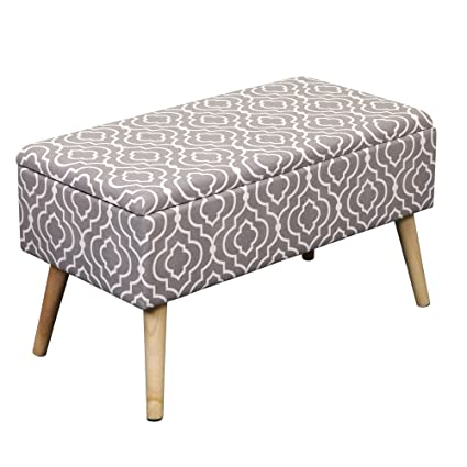 Captivating Otto U0026 Ben 30u0026quot; Storage Bench   Mid Century Ottoman With EASY LIFT Top,