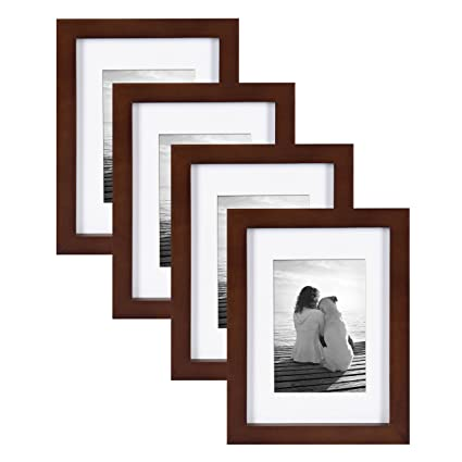 Amazon.com - DesignOvation Gallery Wood Picture Frame (Set of 4), 5 ...