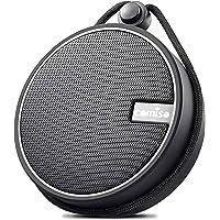 COMISO Enceinte Bluetooth Portable Étanche IPX7 Douche Haut-Parleur Stéréo sans Fil avec Ventouse, TF Carte, Mains-Libres, Microphone pour iPhone, Android et PC Tablette